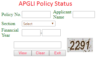APGLI Policy Status at apgli.ap.gov.in