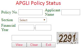 APGLI Policy Status at apgli.ap.gov.in