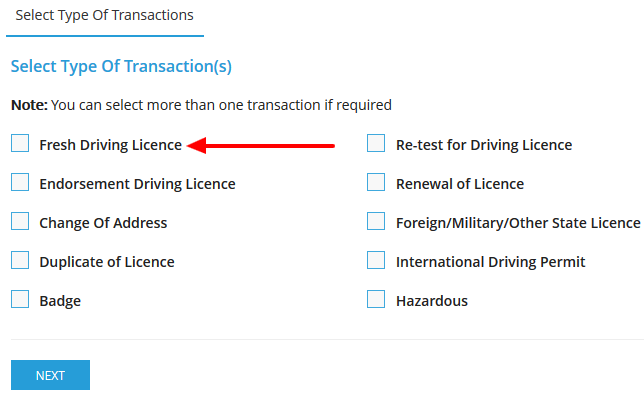 AP New Driving License Online Application